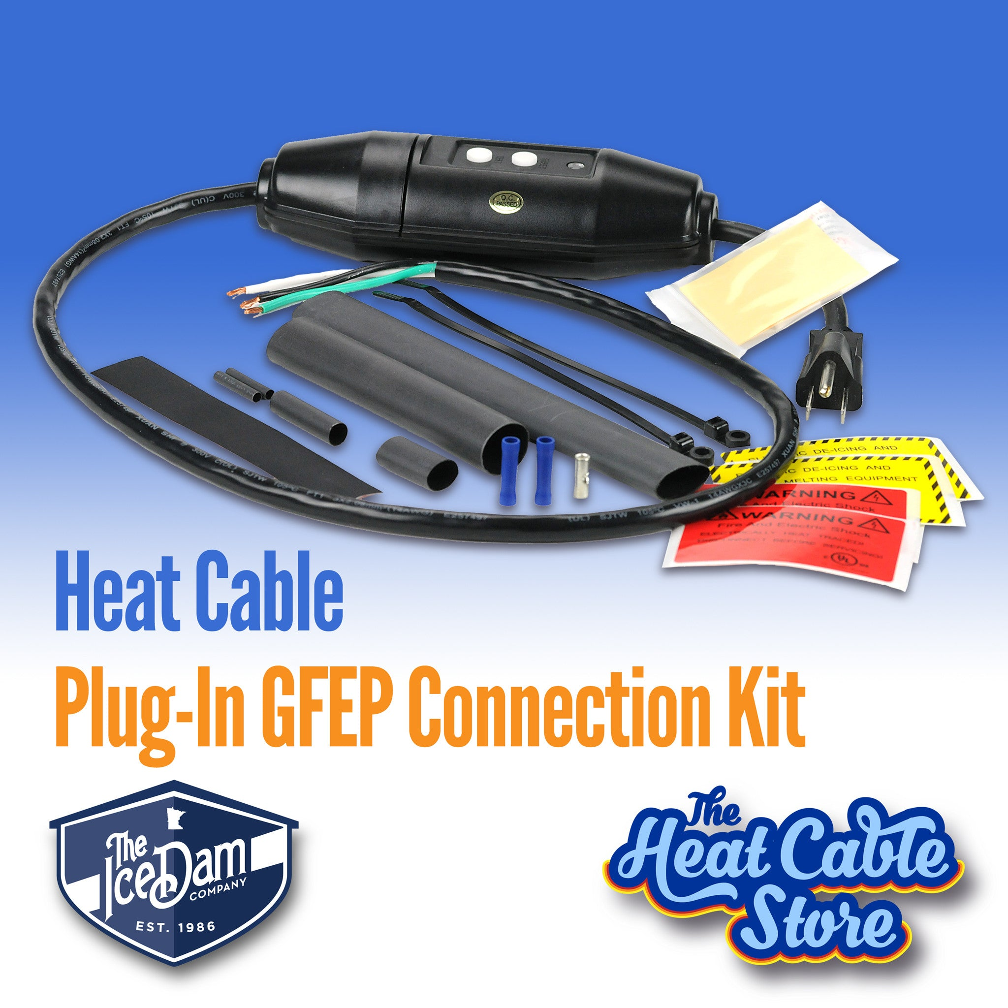 Heat Cable Plug-In Connection Kit with 120V GFEP Device
