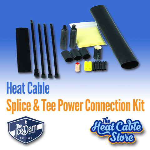 Heat Cable Splice & Tee Power Connection Kit