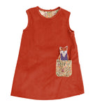 J-Jumper Dress: Forest Animals: Red Fox