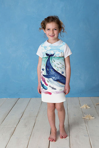 A-Dress: The Mighty Blue Whale