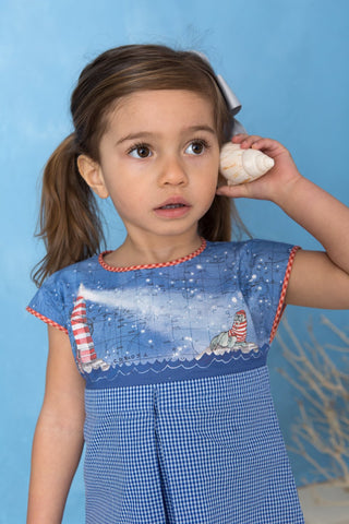 "B-form blouse:  ""the tale of the walrus and the lighthouse"""