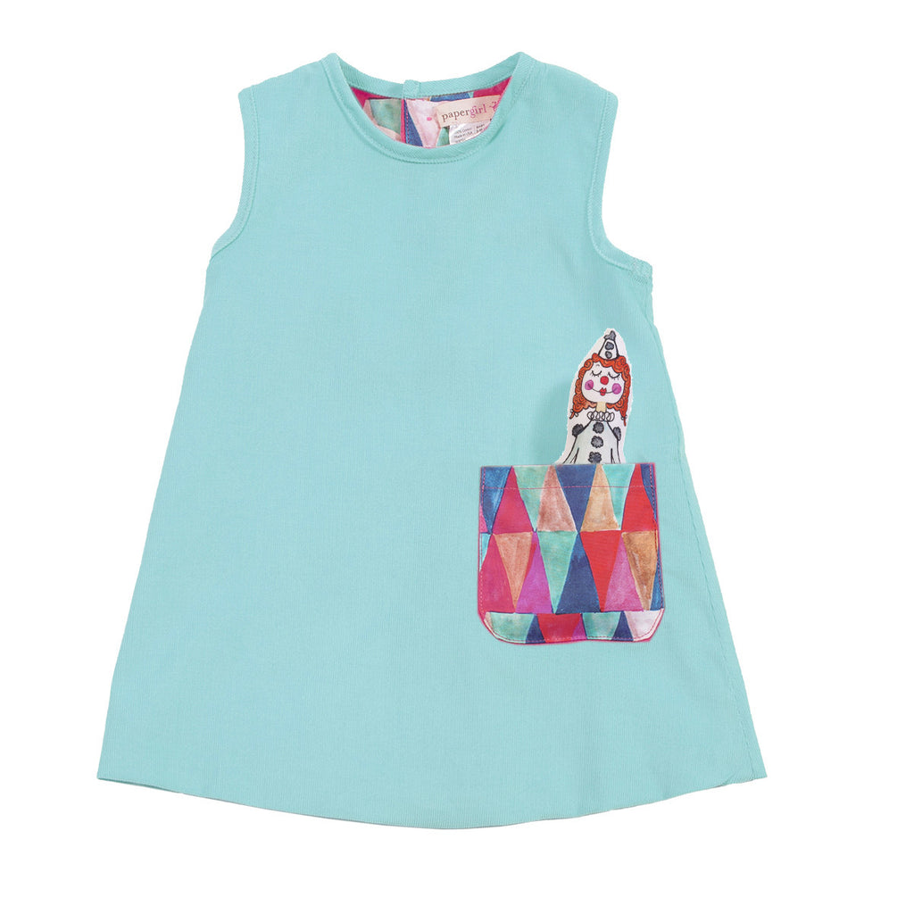 J-Jumper Dress: Circus Ladies in Ballyhoo Aqua