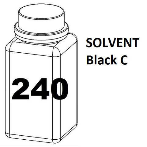 RN Mark RNjet bulk ink bottle 240ml SOLVENT Black C