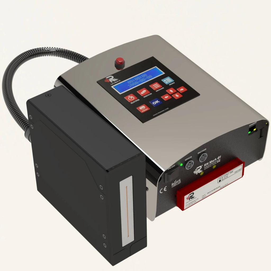 RN Mark E1-72 SOLVENT Inline Inkjet Printer Piezo