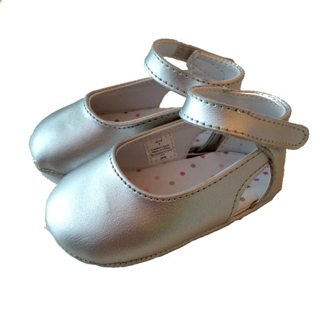Baby Deer Silver Crawling Shoes