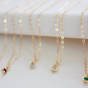 Katie Waltman Jewelry - Miniature Birthstone Necklace