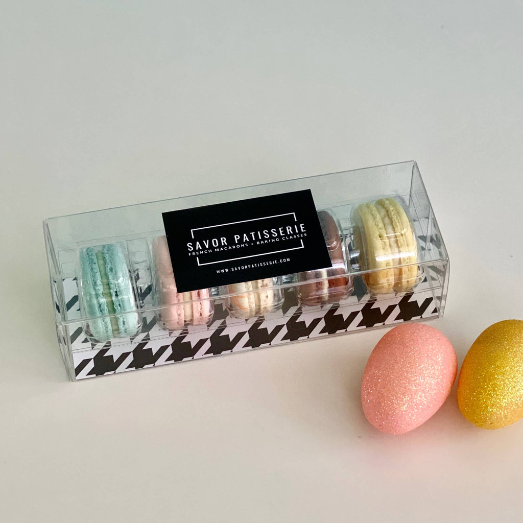 Savor Patisserie French Macarons - Pastels- Gift Box of 5 French Macarons