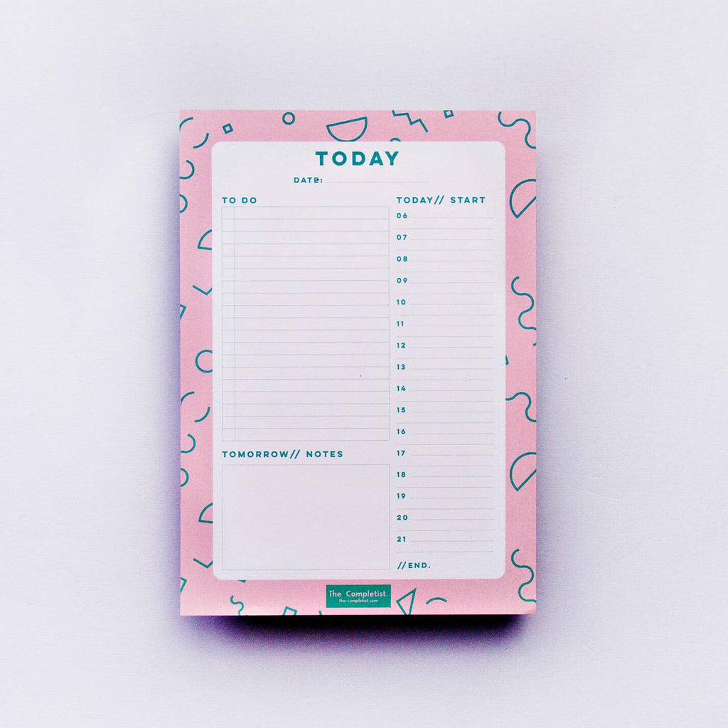 The Completist - Pink Memphis Daily Planner Pad