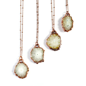 MergingMetals - Pearly Solar Quartz Necklace