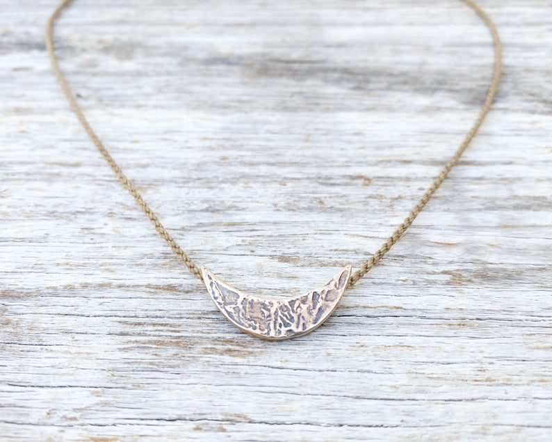 Demilune Bronze Necklace