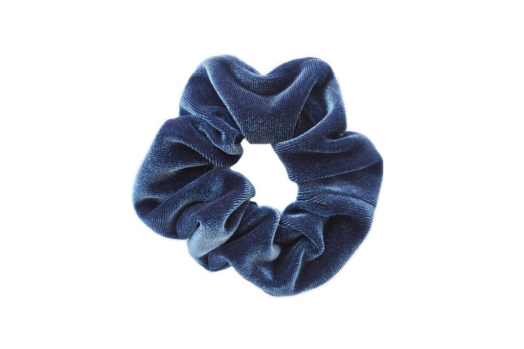 Grey Velvet Scrunchies