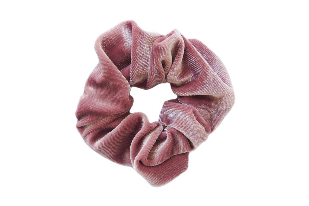 Blush Pink Velvet Scrunchies
