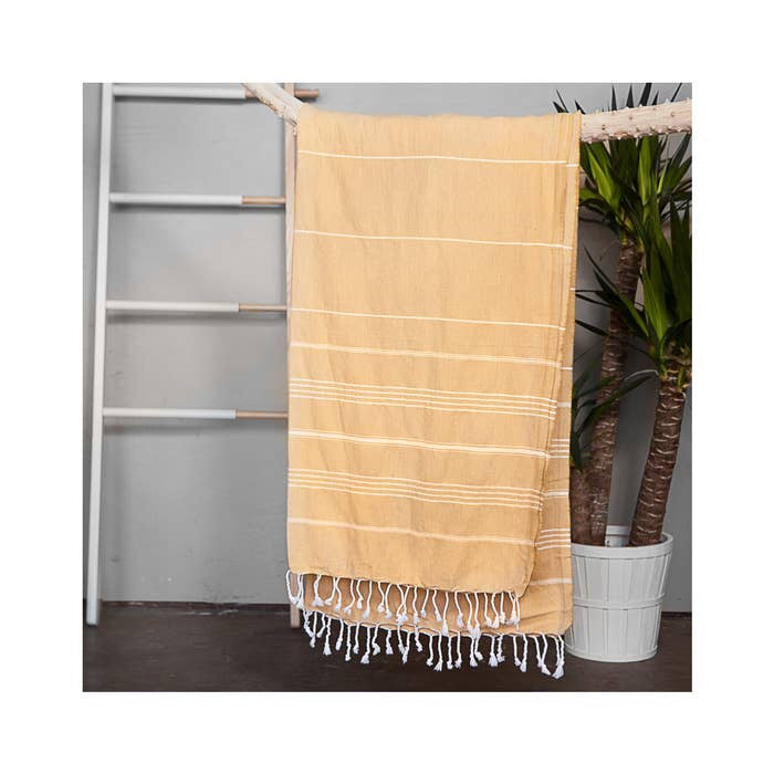 Authentic Mustard Light Turkish Towel