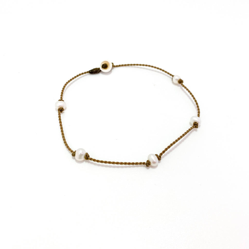 Princess Anklet - White Pearl