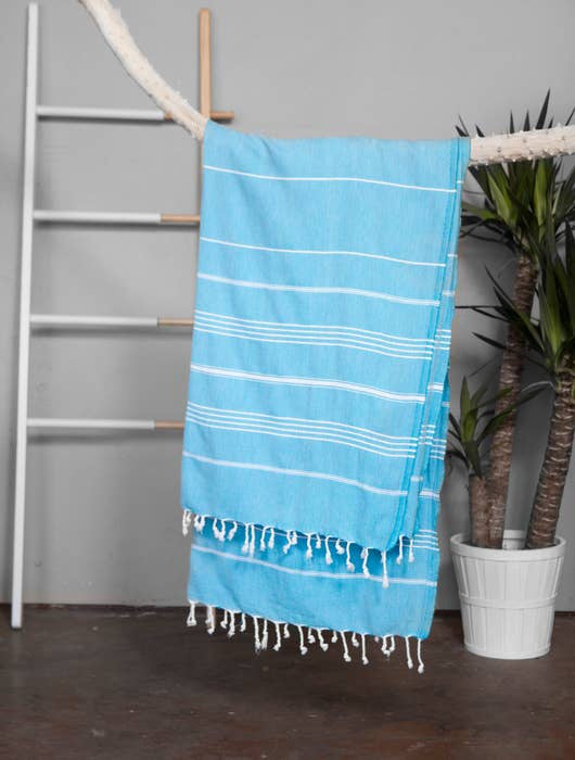 Authentic Aqua Light Turkish Towel