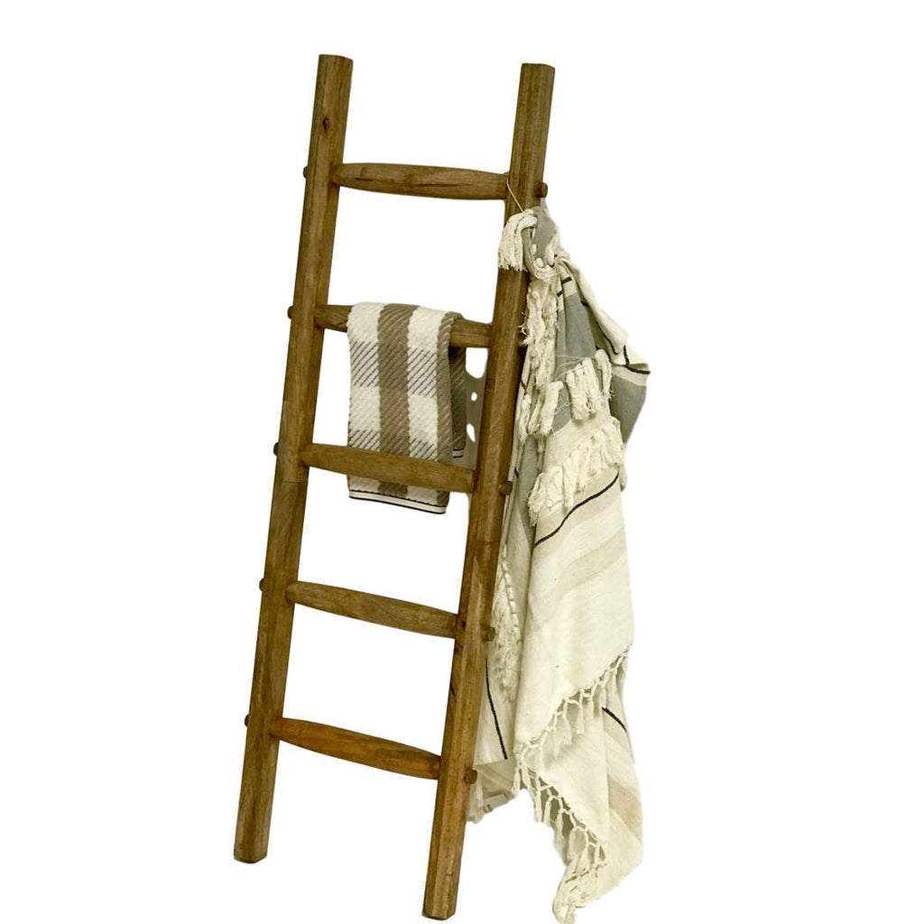 Mango Wood Leaning Ladder Rack