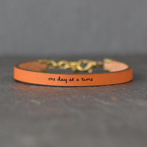 One Day At A Time Leather Bracelet
