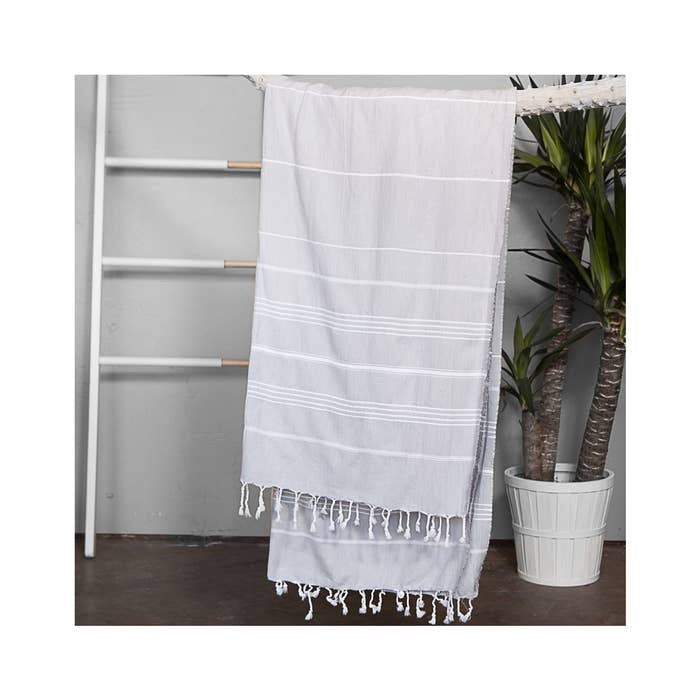 Authentic Light Gray Light Turkish Towel
