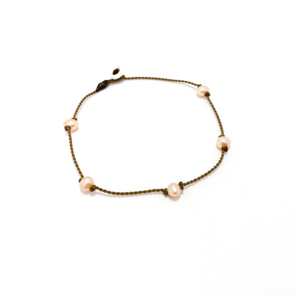 Princess Anklet - Peach Pearl
