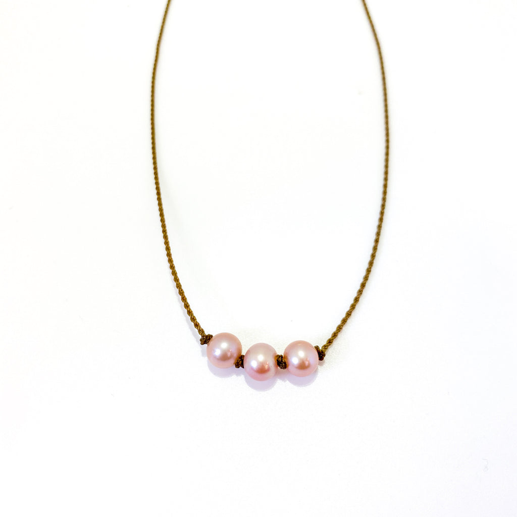 Triple Knotted - Blush Pearl