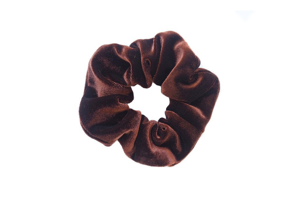 Brown Velvet Scrunchies