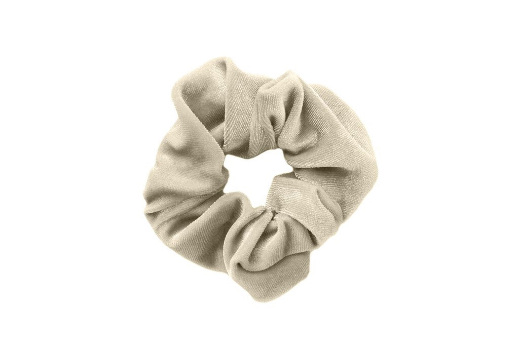 Cream Velvet Scrunchies