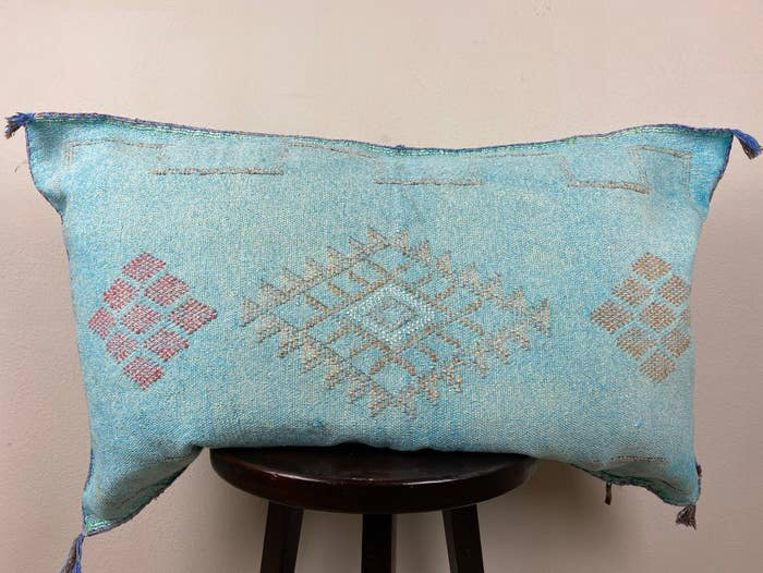 Extra Large Turquoise Silk Sabra Cover