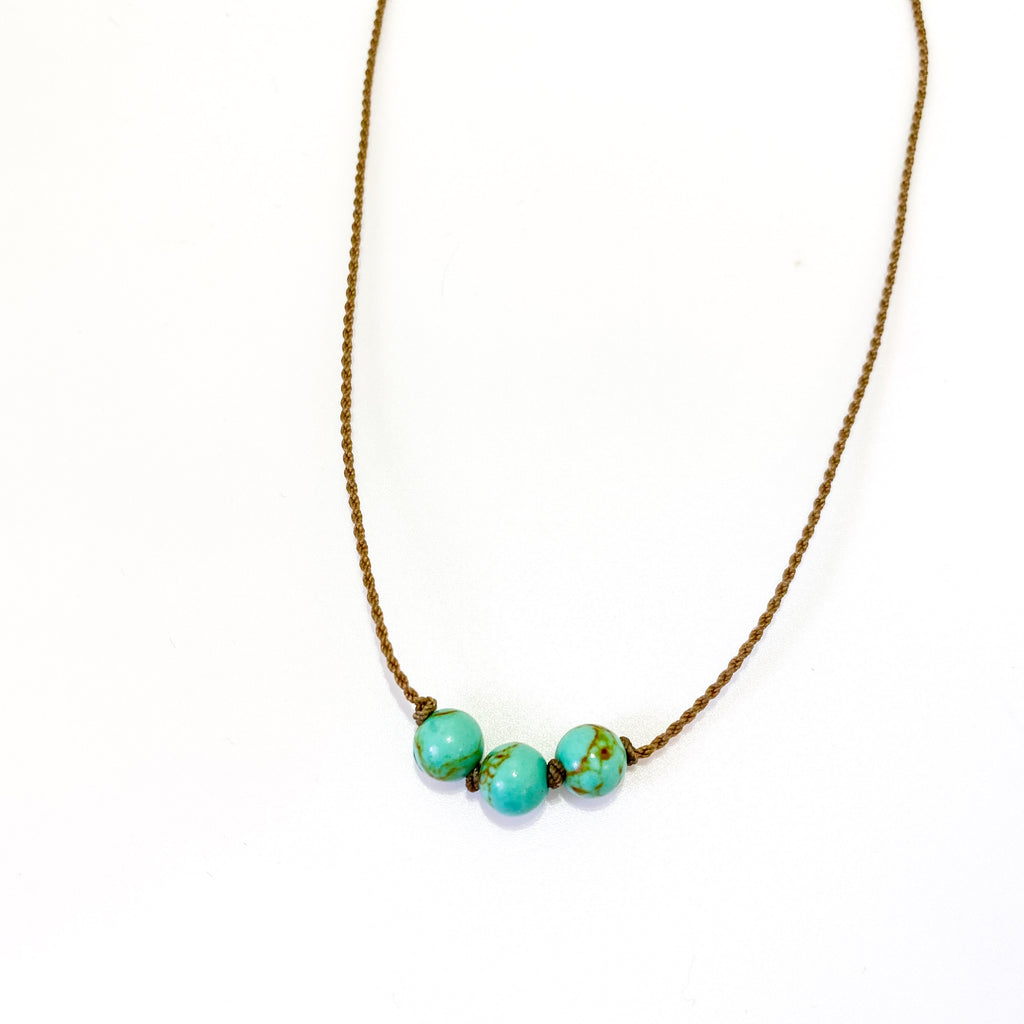 Triple Knotted - Turquoise Jasper
