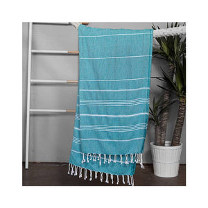Authentic Turquoise Light Turkish Towel
