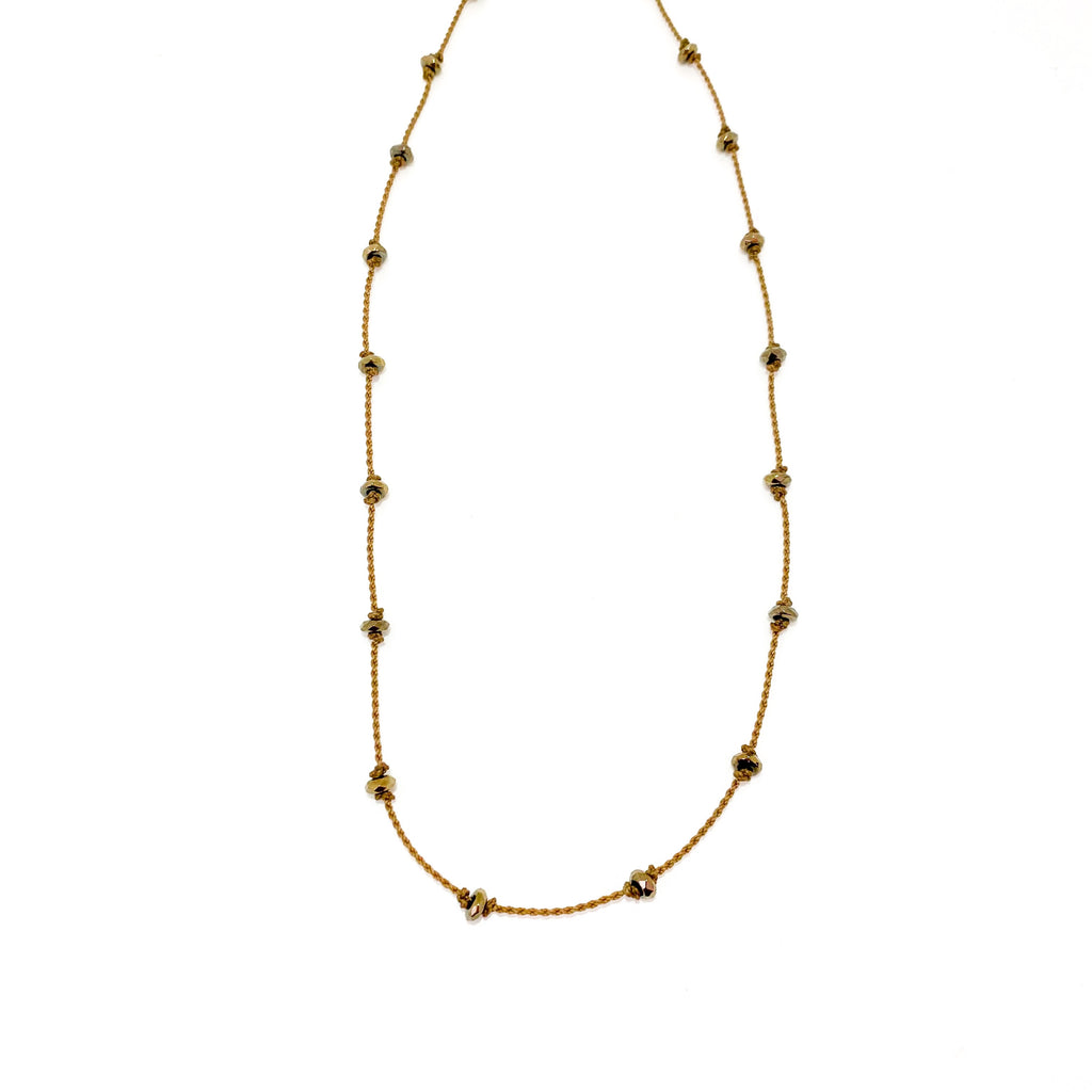 Pyrite Wrap | Necklace