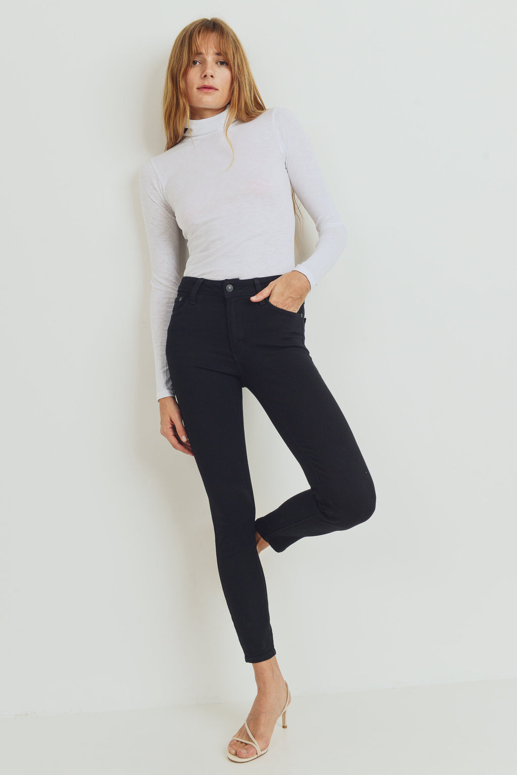 The Basic Skinny Black Denim