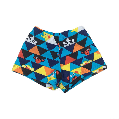 Baby Boy / Toddler Swim Turnks - Blue Pattern Fun Design