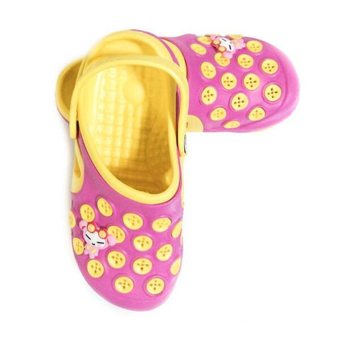 Croc's - Pink / Yellow with Circles