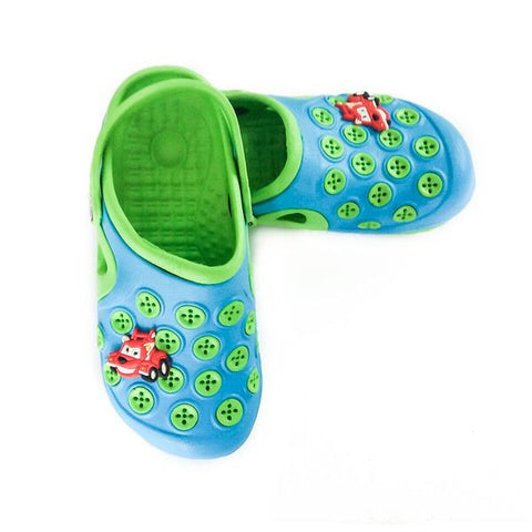 Croc's - Blue / Green with Circles
