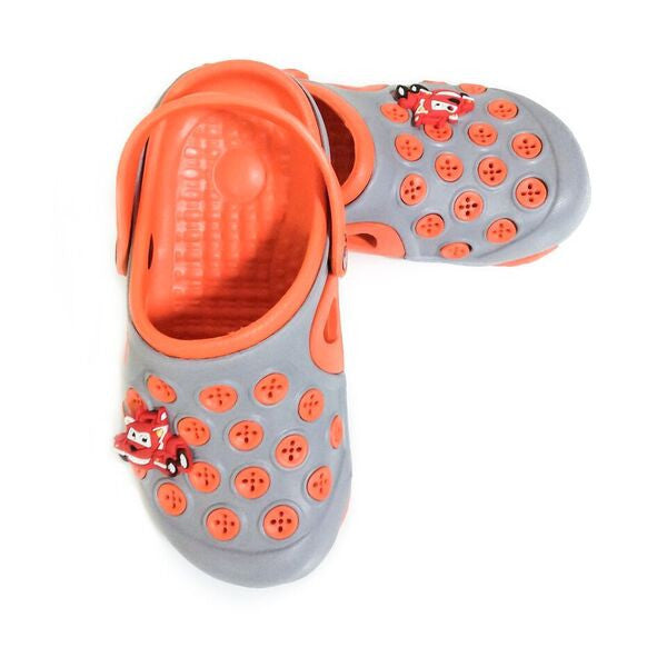 Croc's - Grey / Orange with Circles