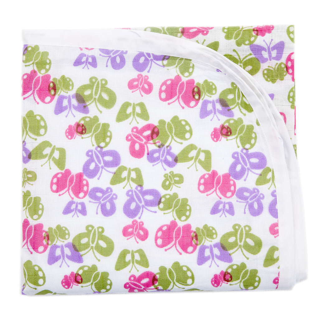 Baby Muslin Swaddle - Buterfly Design