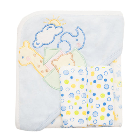 Baby Bath Set - Blue with Giriaffe Design