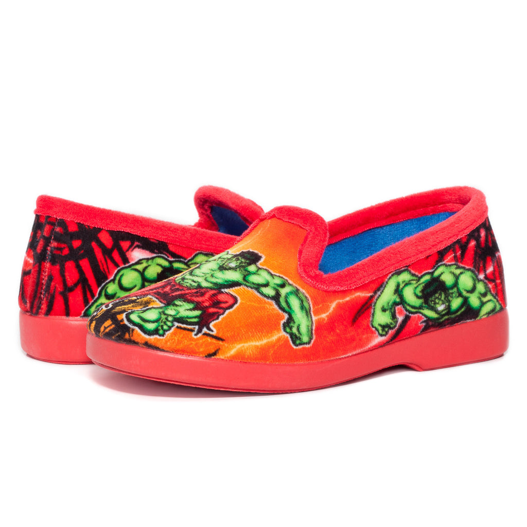 Children's Slippers - Hulk Slippers Red