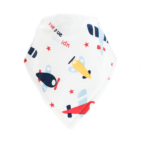 Bandana Bib-Aeroplane Design on White Background