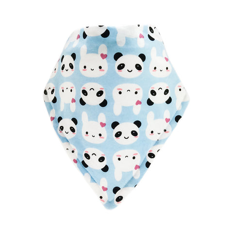 Bandana Bib-Bear Design on Blue Background