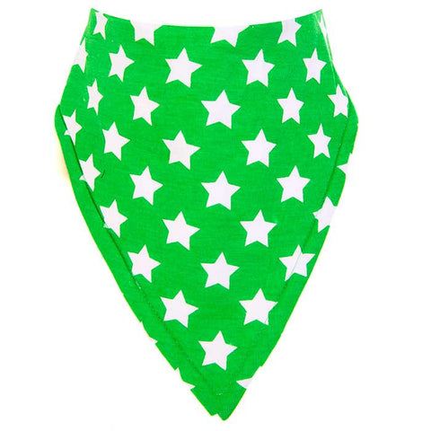 Bandana Bib - Star Green Design