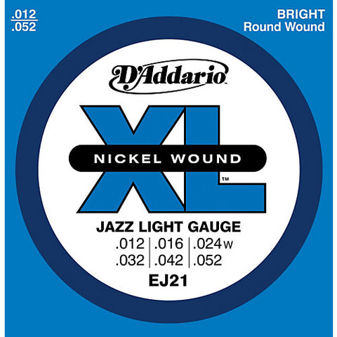 DAddario EJ21 Nickel Wound, Jazz Light, 12-52