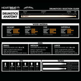 Heartbeat HBS Standard Series Hickory 2B Round Tip