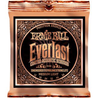 Ernie Ball Everlast Coated Phosphor Bronze Acoustic Medium Light