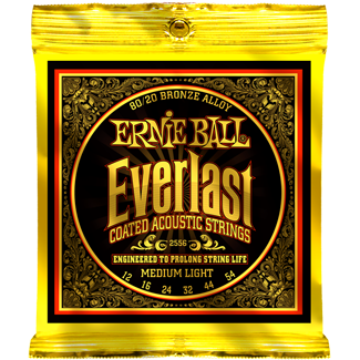 Ernie Ball Everlast Coated 80/20 Bronze Acoustic Medium Light