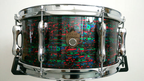 "Sakae Trilogy Snare Drum 14"" x 6.5"" (Psychedelic Red)"