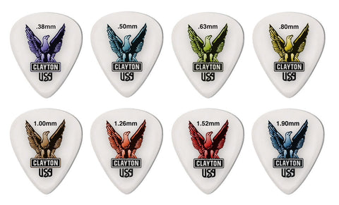 Clayton Acetal/Polymer Guitar Picks Starter Display