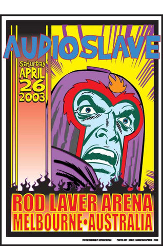 "Audioslave - Melbourne, 2003 Gig poster (25.5"" x 19"")"