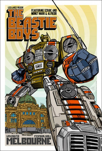 "The Beastie Boys - 2nd Feb Festival Hall Melbourne Gig poster (27.5"" x 19"")"