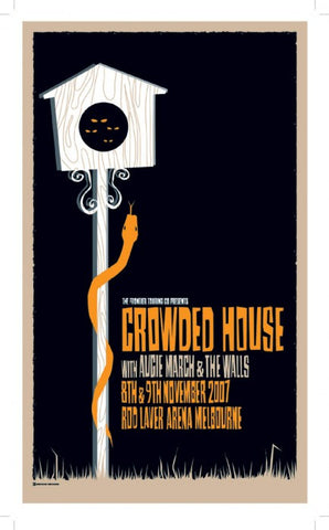 "Crowded House - Melbourne 2007 Gig poster (27"" x 16"")"